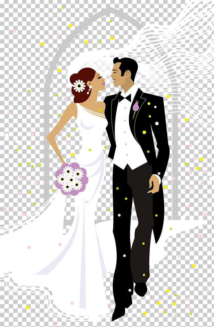 hight resolution of sweet bride and groom wedding illustration png clipart bride bride and groom brides cartoon clip art