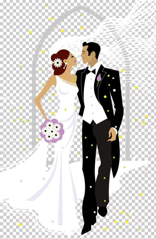 small resolution of sweet bride and groom wedding illustration png clipart bride bride and groom brides cartoon clip art