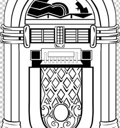 jukebox 1950s png clipart 1950s area art black and white clip art free png download [ 728 x 1199 Pixel ]