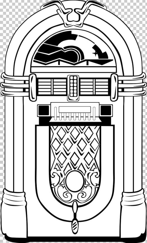 small resolution of jukebox 1950s png clipart 1950s area art black and white clip art free png download