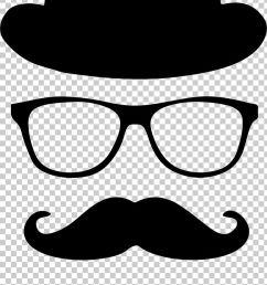 moustache top hat glasses bow tie png clipart artwork beard black and white bowler hat  [ 728 x 1297 Pixel ]