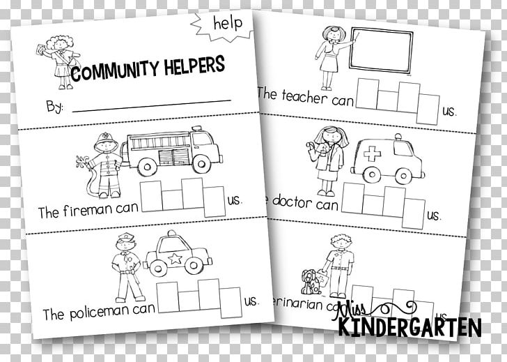 Beautiful Clipart Community Helpers Black And White