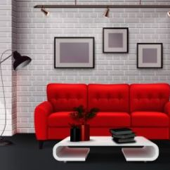 Simple Clean Living Room Design Red And Chocolate Brown Ideas You Searched For Contemporary Interior Detail With Stunning Leather Sofa Accent Realistic Vector