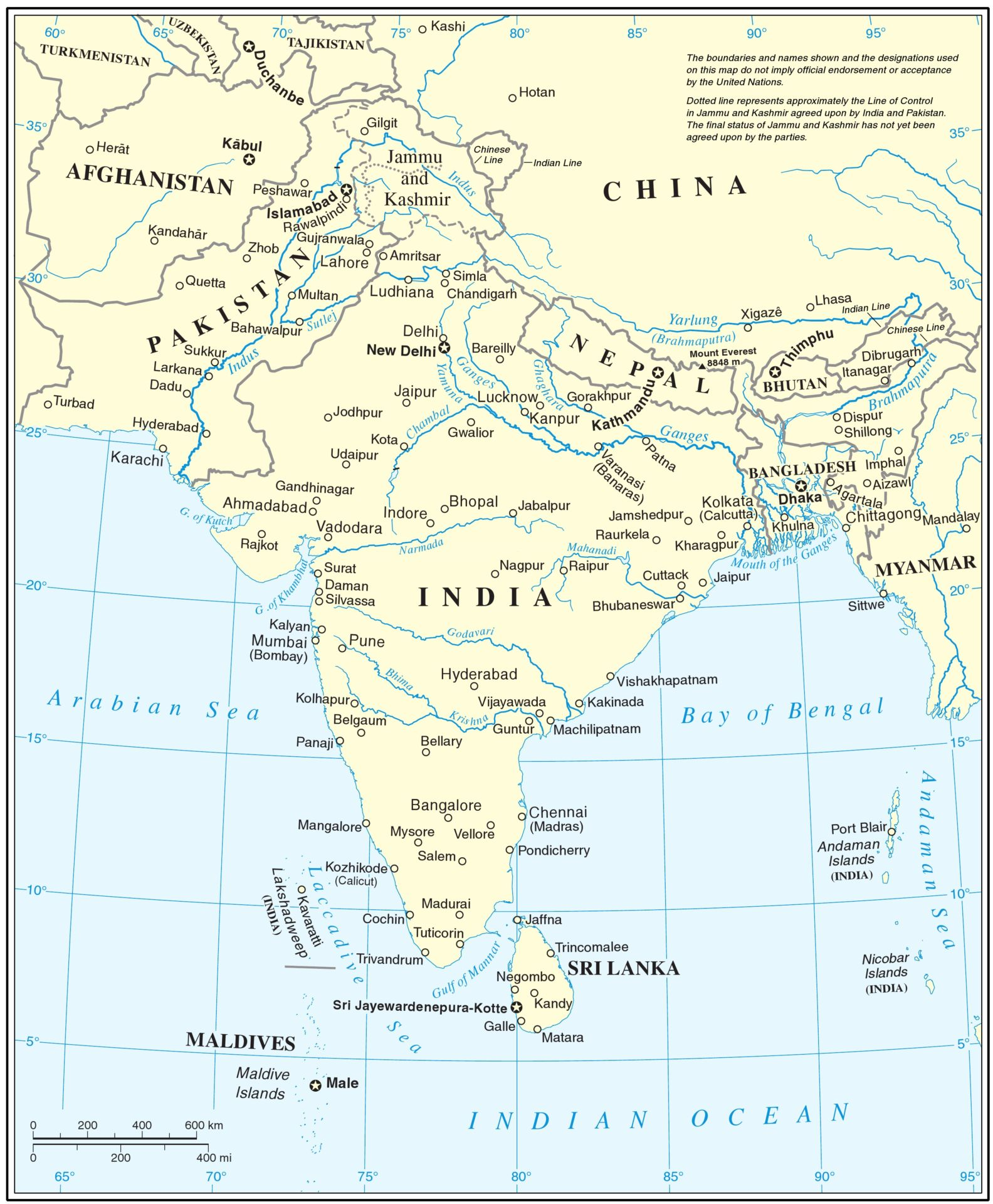 Asia Bodies Of Water Map : bodies, water, Transboundary, Rivers, South, Regional, Water, Management, Impakter