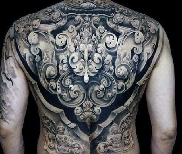 Renaissance Design Back Tattoo For Men