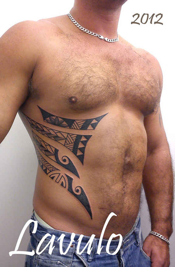 Small Stomach Tattoos Men