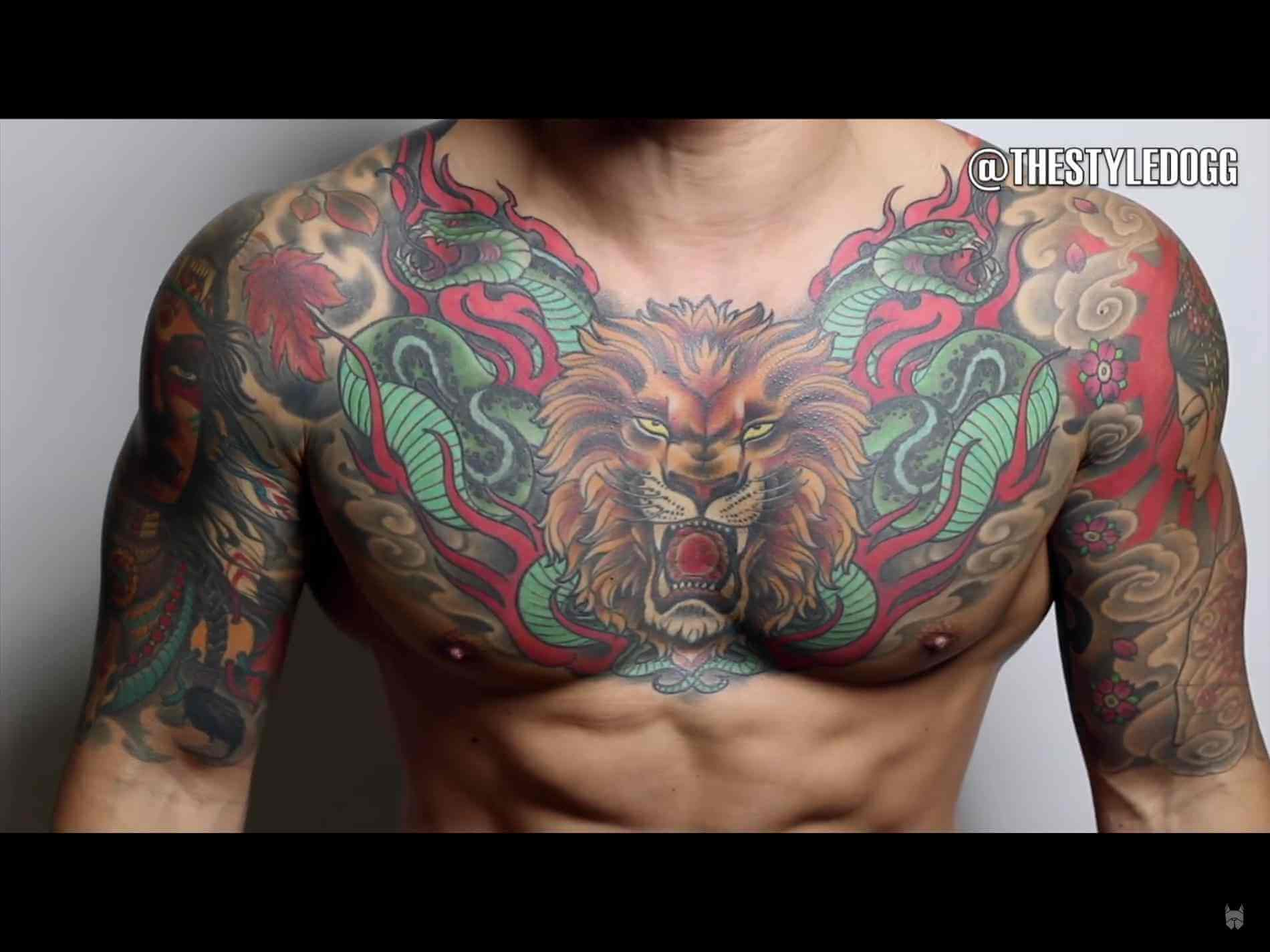 Tiger Tattoo Designs For Men Chest