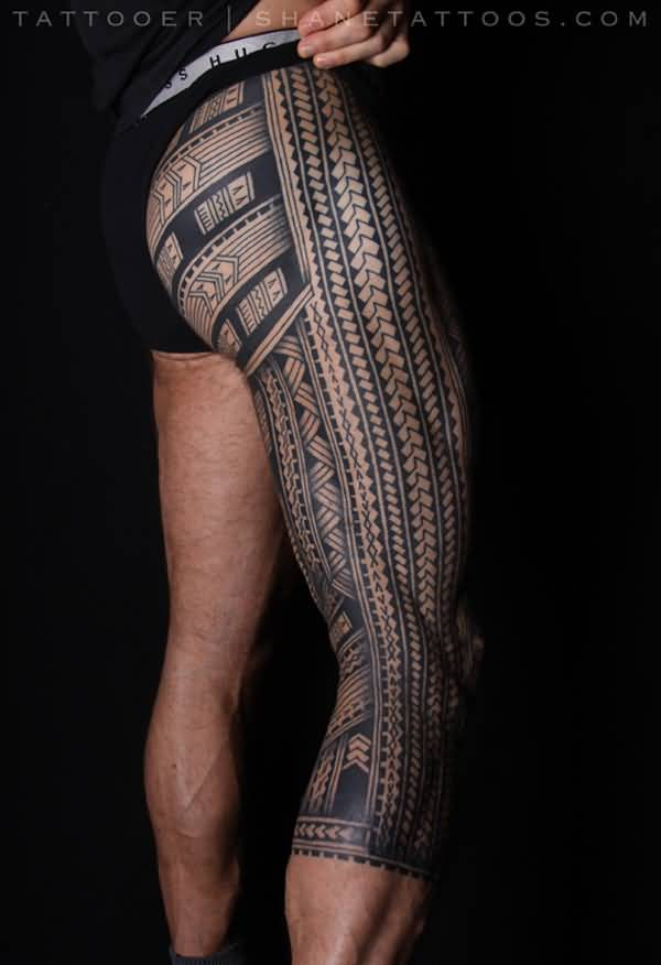 Small Thigh Tattoos For Men