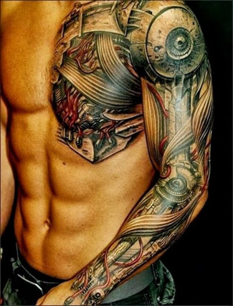 Half Chest Tattoos For Men : chest, tattoos, Chest, Tattoos, Improb