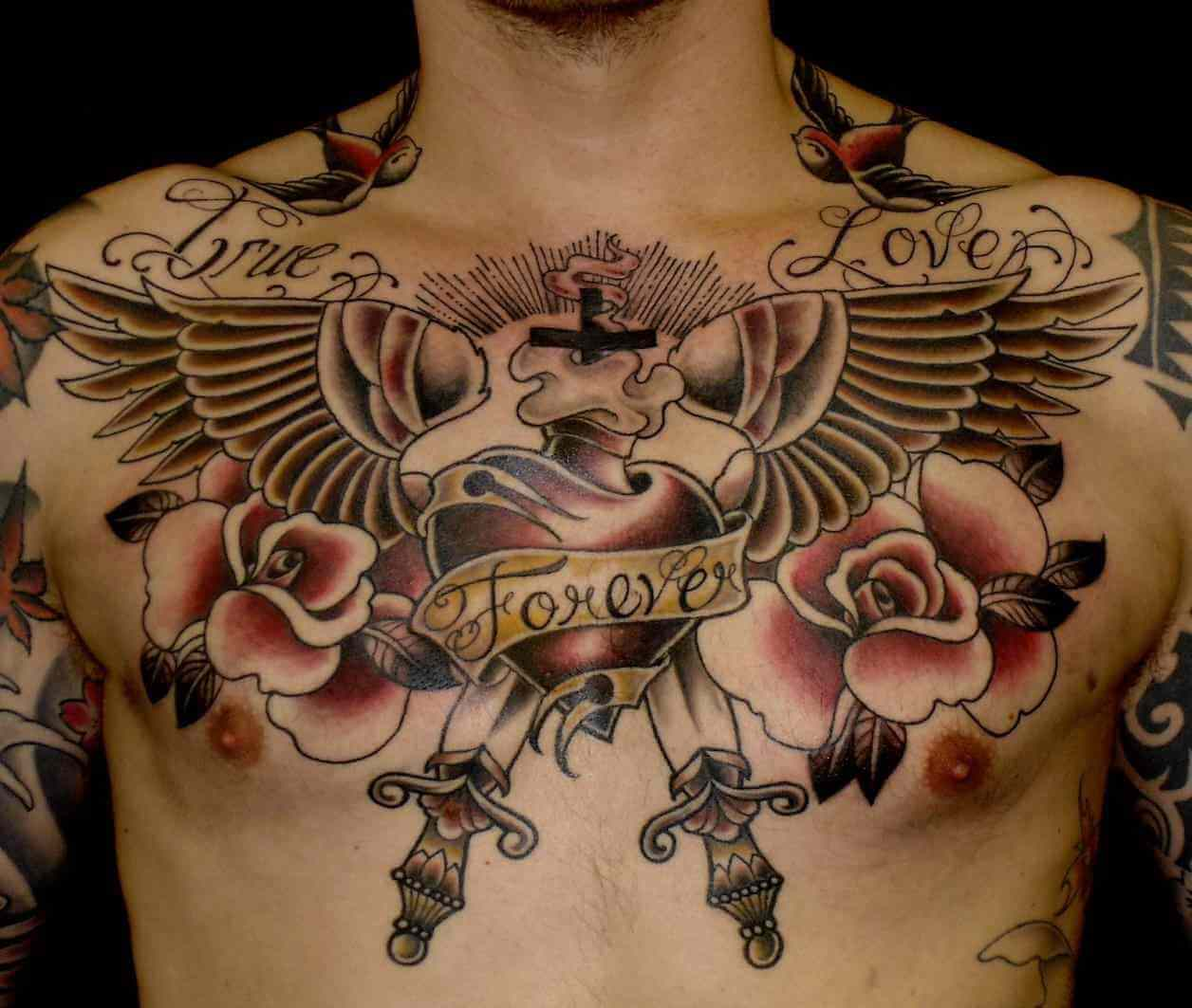 Chest Tattoo For Men Wings