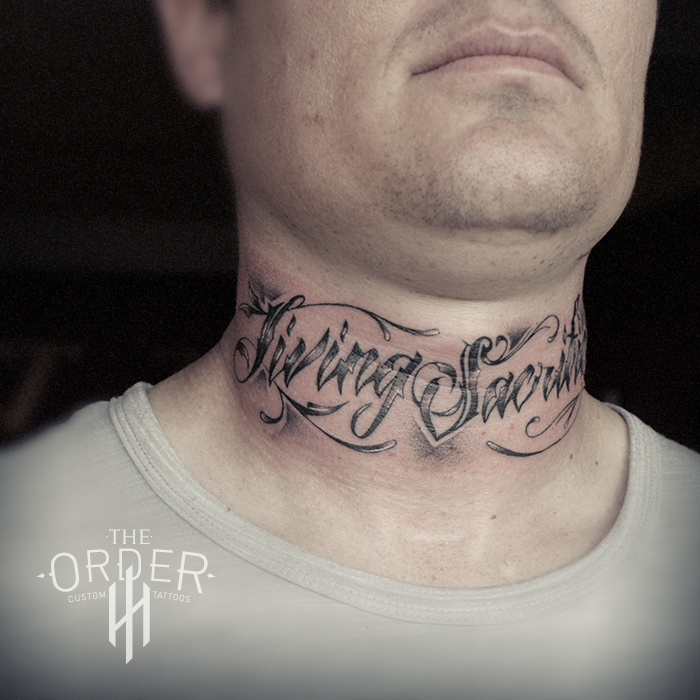 Cool Simple Tattoos For Guys On Neck