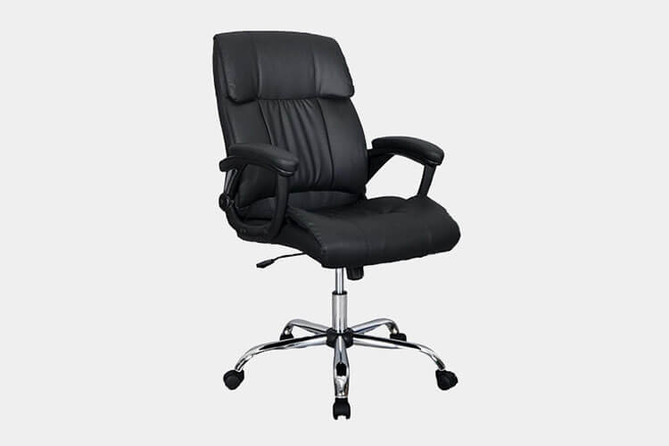 office chair armrest gray ergonomic 30 best chairs improb black pu leather high back executive desk task