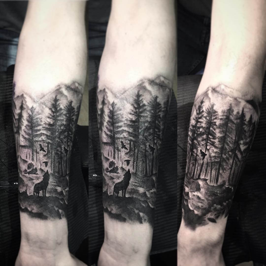 Wolf Arms Tattoo