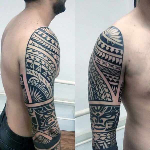 Shoulder Upper Arm Polynesian Tattoo Design