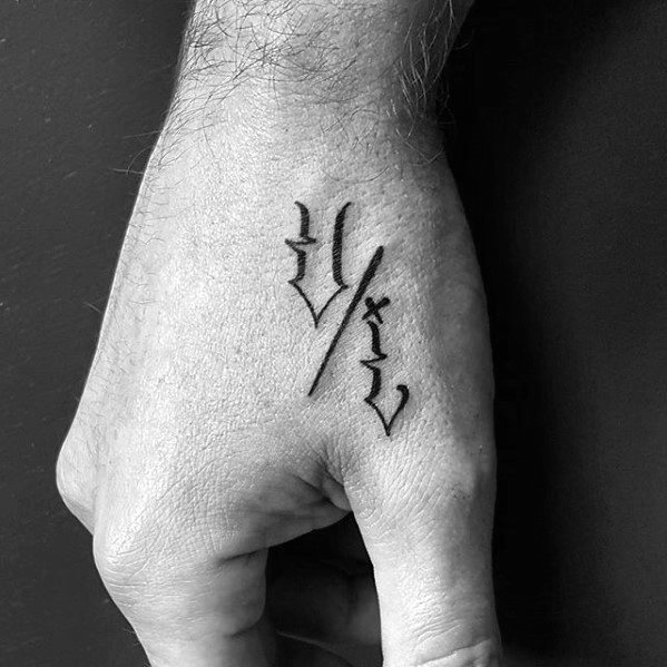 S Letter Tattoo On Hand