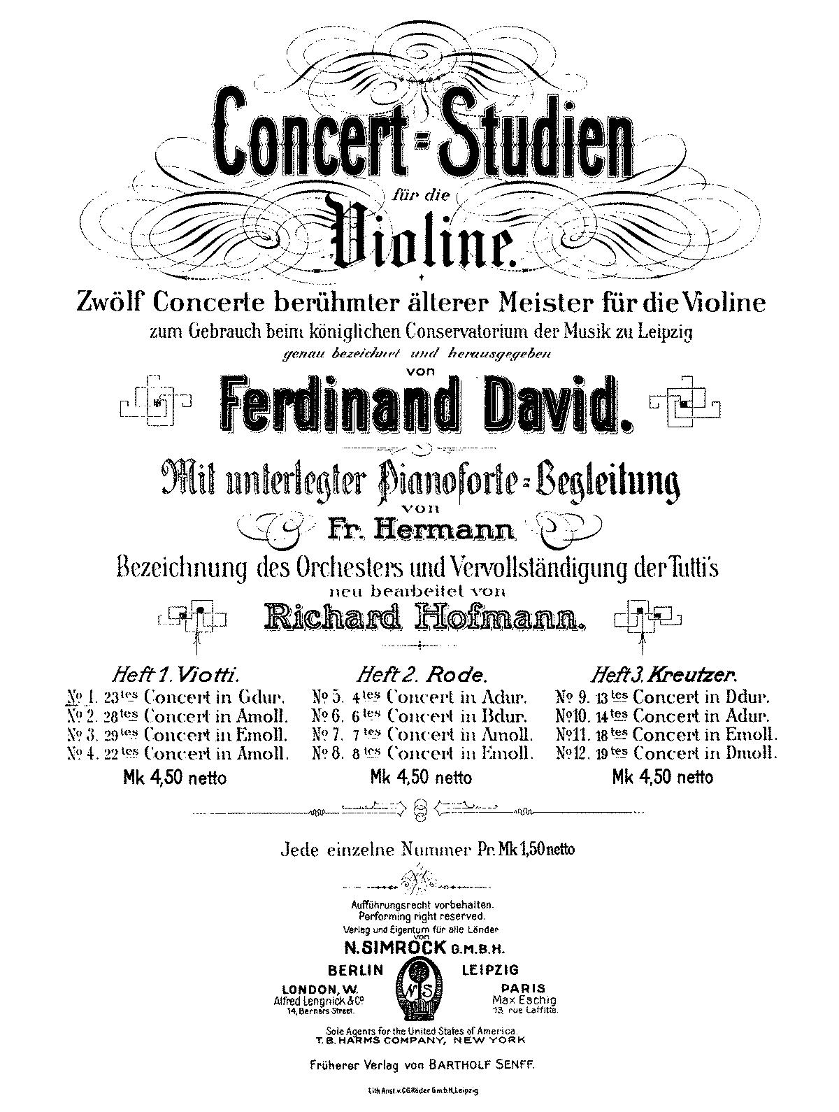 Violin Concerto No.23 in G major (Viotti, Giovanni