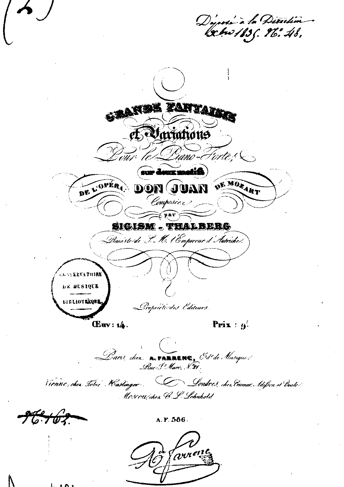 Grande fantaisie et variations sur 'Don Juan', Op.14