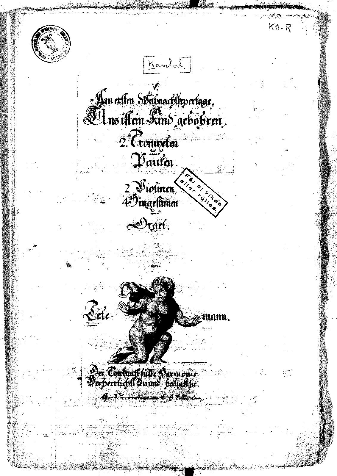 Uns ist ein Kind geboren, TWV 1:1454 (Telemann, Georg