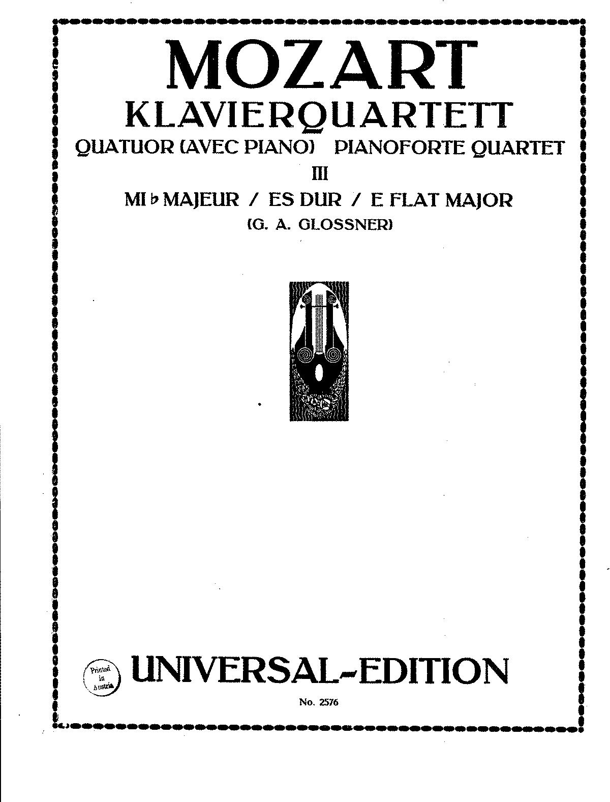 Quintet in E-flat major, K.452 (Mozart, Wolfgang Amadeus
