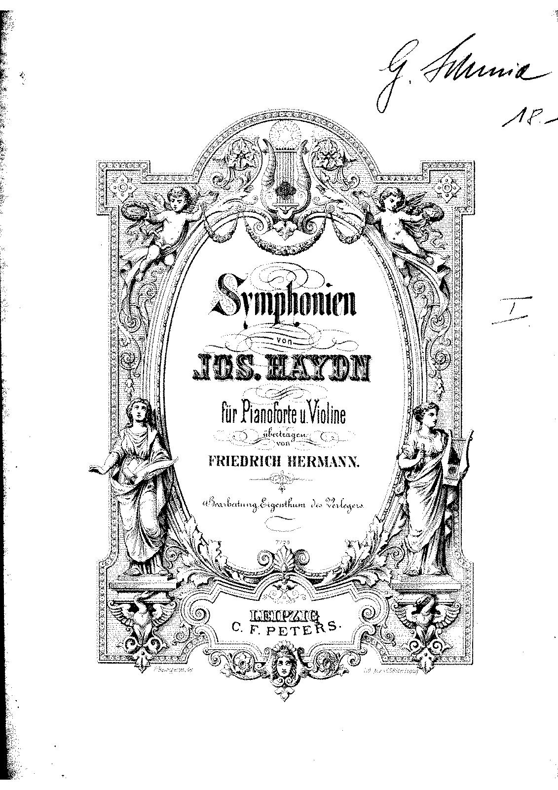Symphony No.103 in E-flat major, Hob.I:103 (Haydn, Joseph