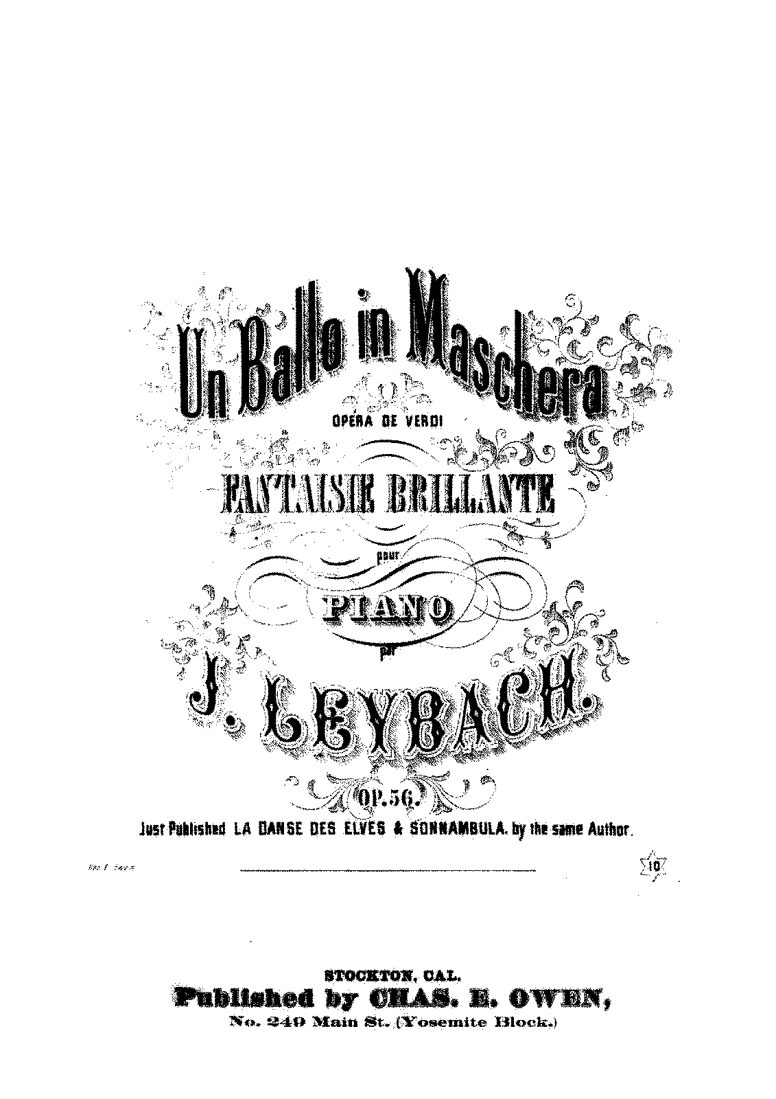 Fantaisie Brillante sur 'Un Ballo in Maschera', Op.56