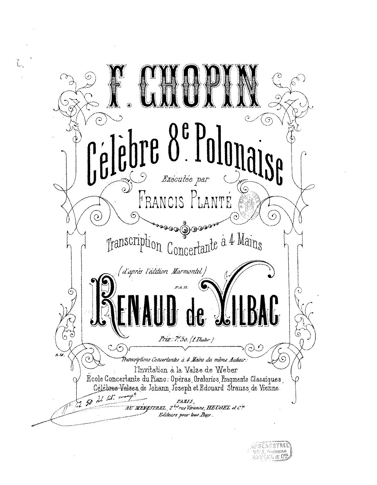 Polonaise in A-flat major, Op.53 (Chopin, Frédéric