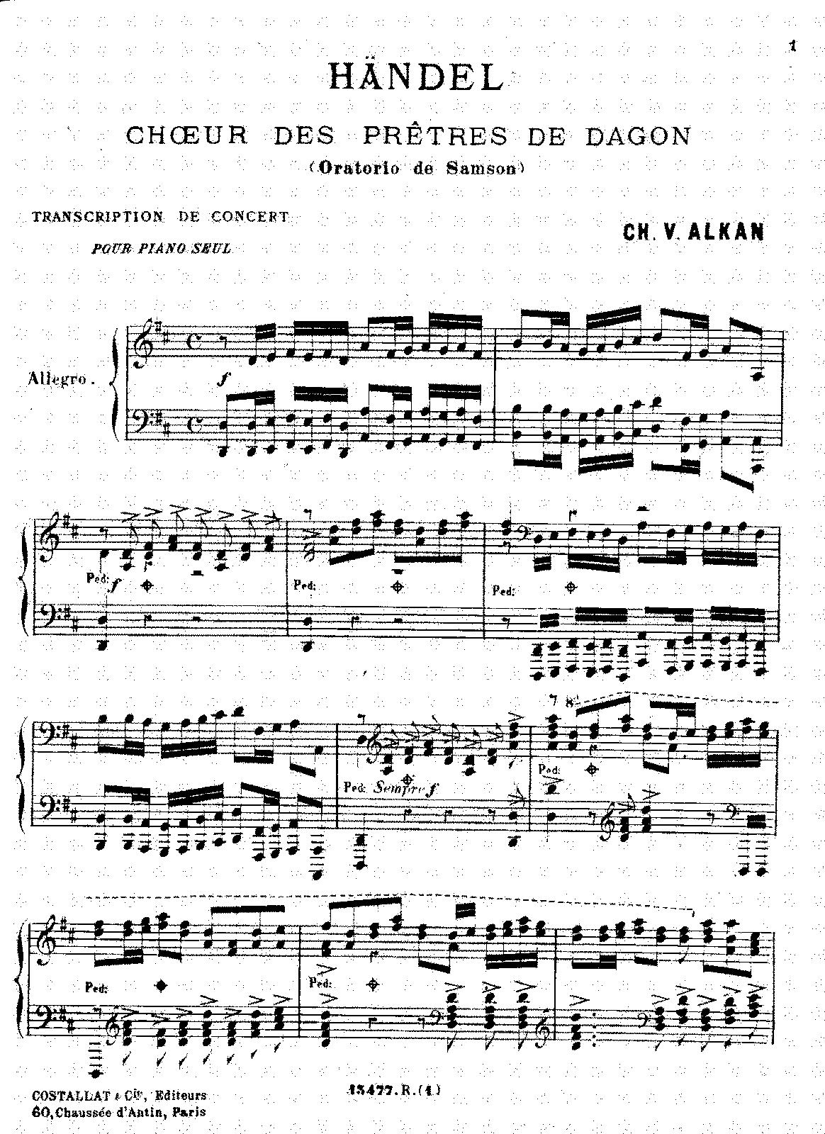 Souvenirs Des Concerts Du Conservatoire Alkan Charles