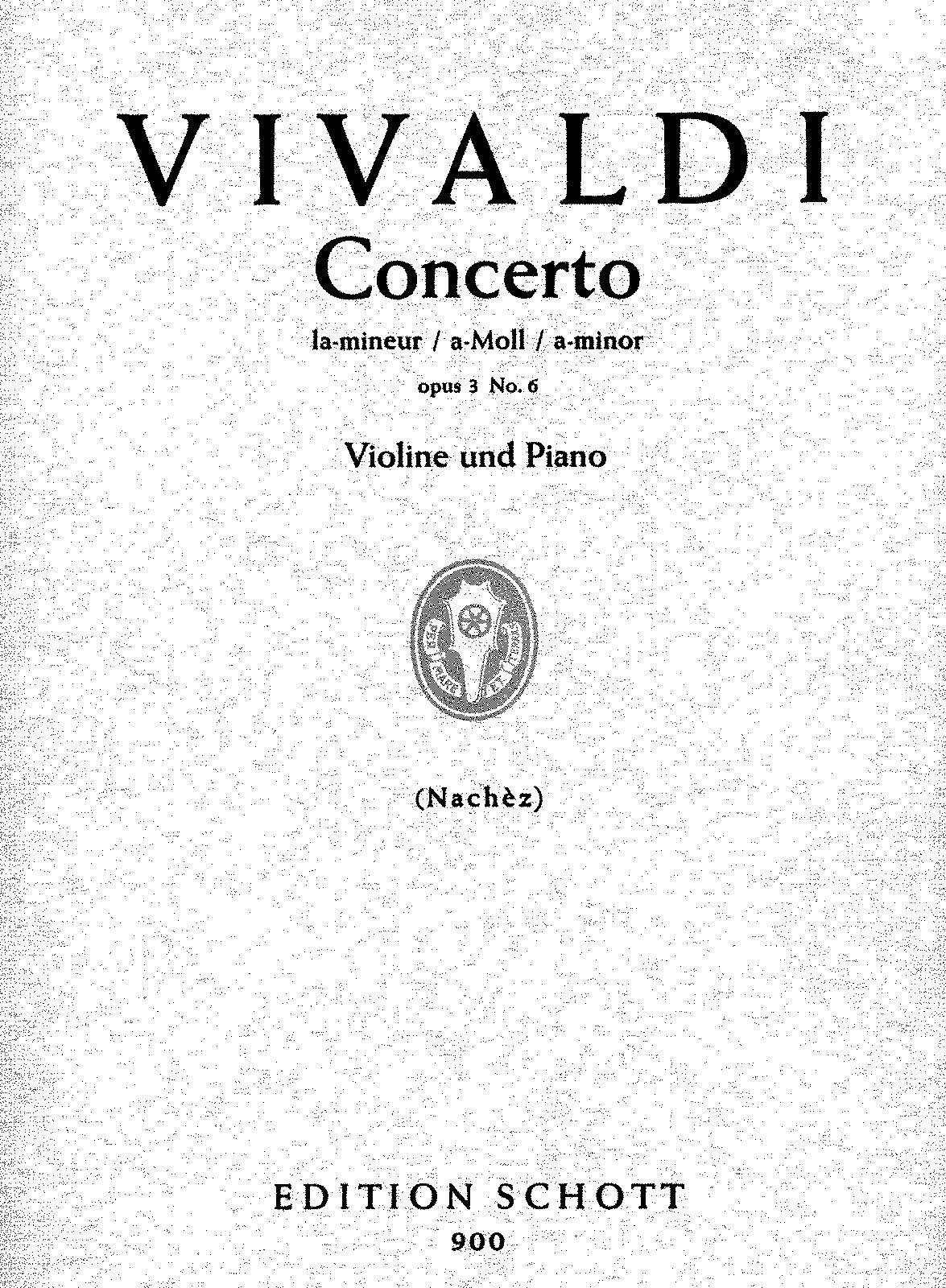 Violin Concerto in A minor, RV 356 (Vivaldi, Antonio