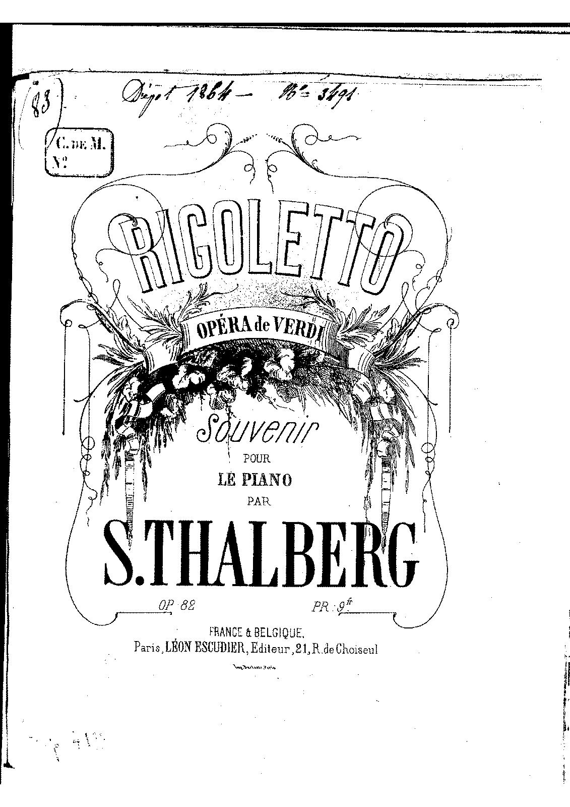 Fantasia on Verdi's 'Rigoletto', Op.82 (Thalberg
