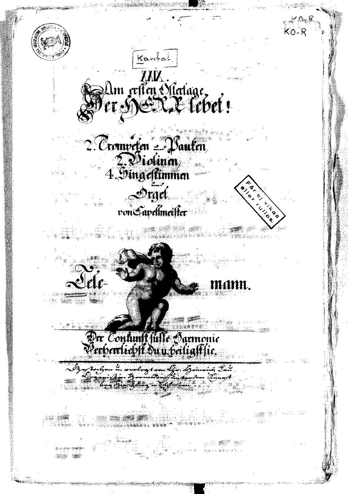 Der Herr lebet, TWV 1:284 (Telemann, Georg Philipp