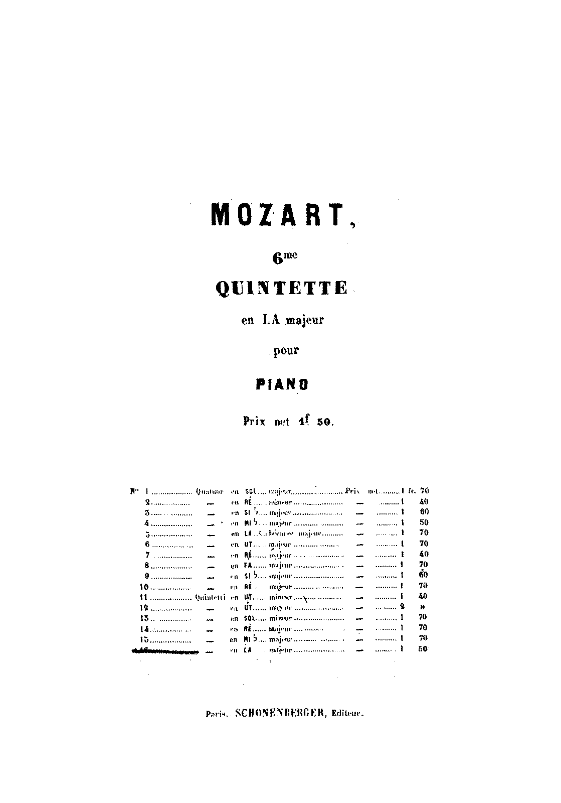 Clarinet Quintet in A major, K.581 (Mozart, Wolfgang