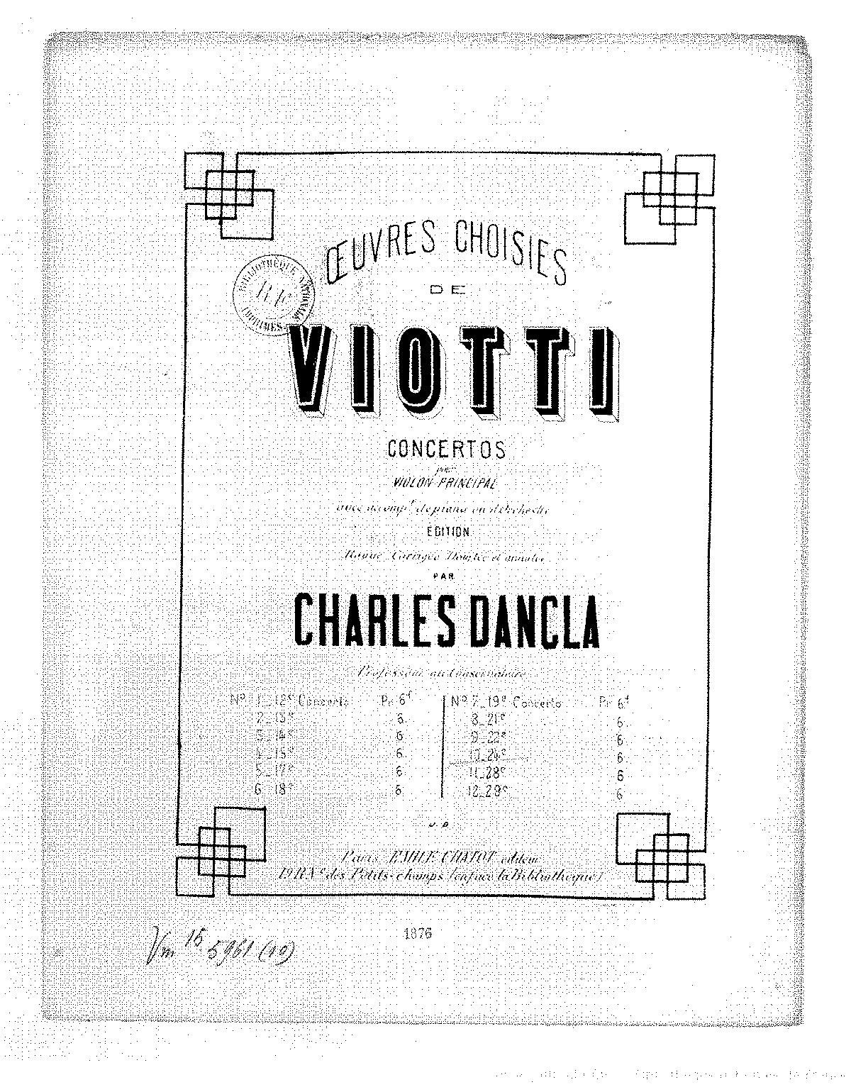 Violin Concerto No.24 in B minor (Viotti, Giovanni