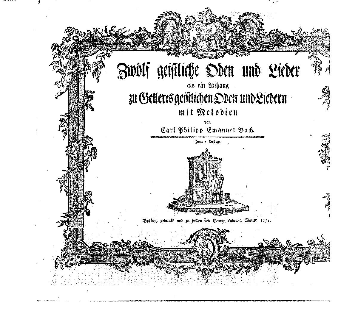 Geistliche Oden und Lieder II, H.696 (Bach, Carl Philipp