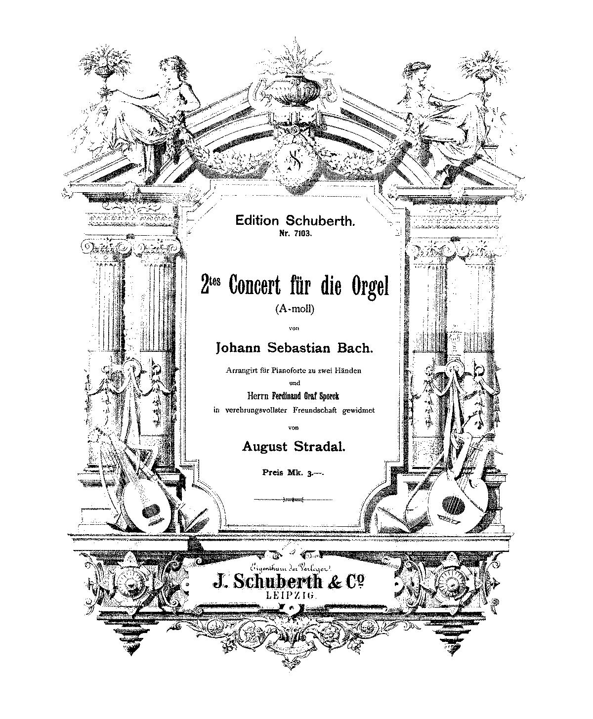 Organ Concerto in A minor, BWV 593 (Bach, Johann Sebastian