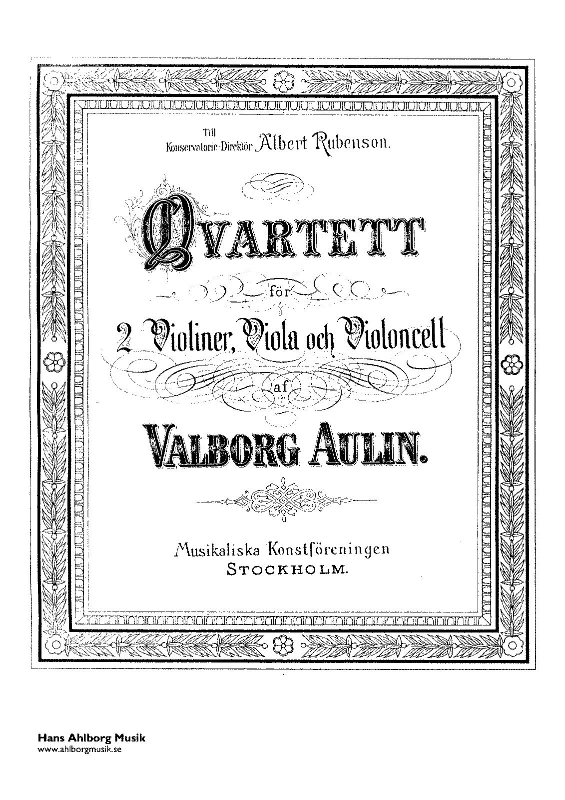 Valborg Aulin, op. 17 n. 1