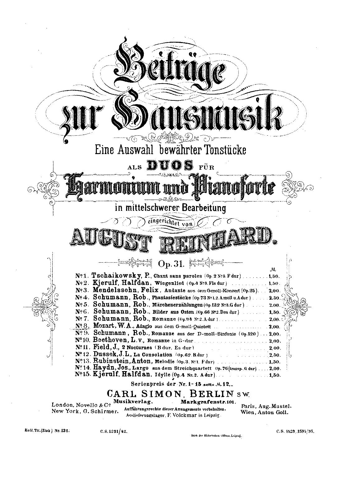 String Quintet No.4 in G minor, K.516 (Mozart, Wolfgang