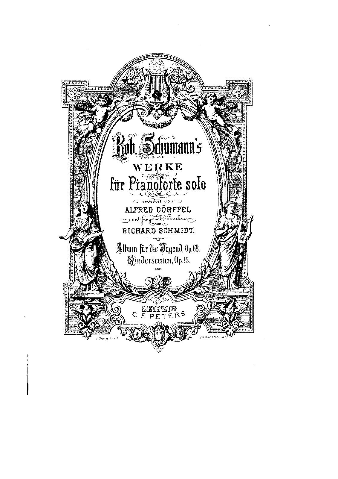 Risultati immagini per schumann Klavierstücke für die Jugend old edition