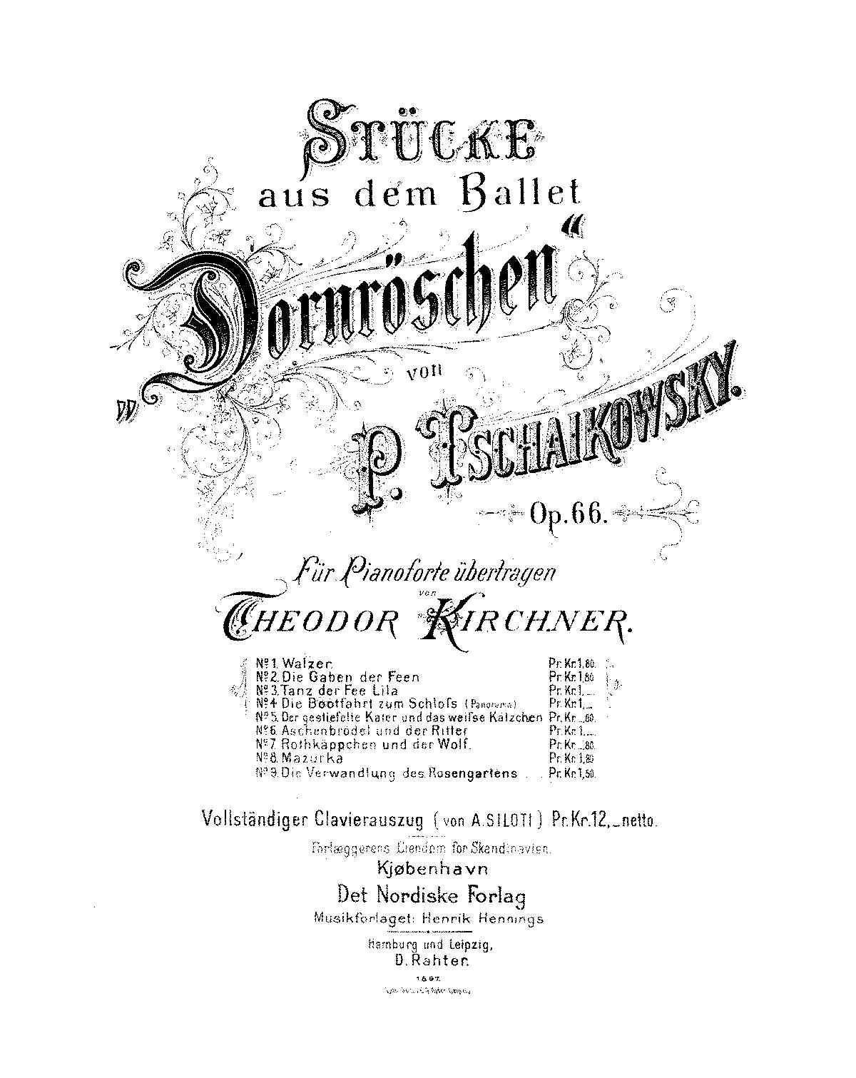 The Sleeping Beauty (ballet), Op.66 (Tchaikovsky, Pyotr
