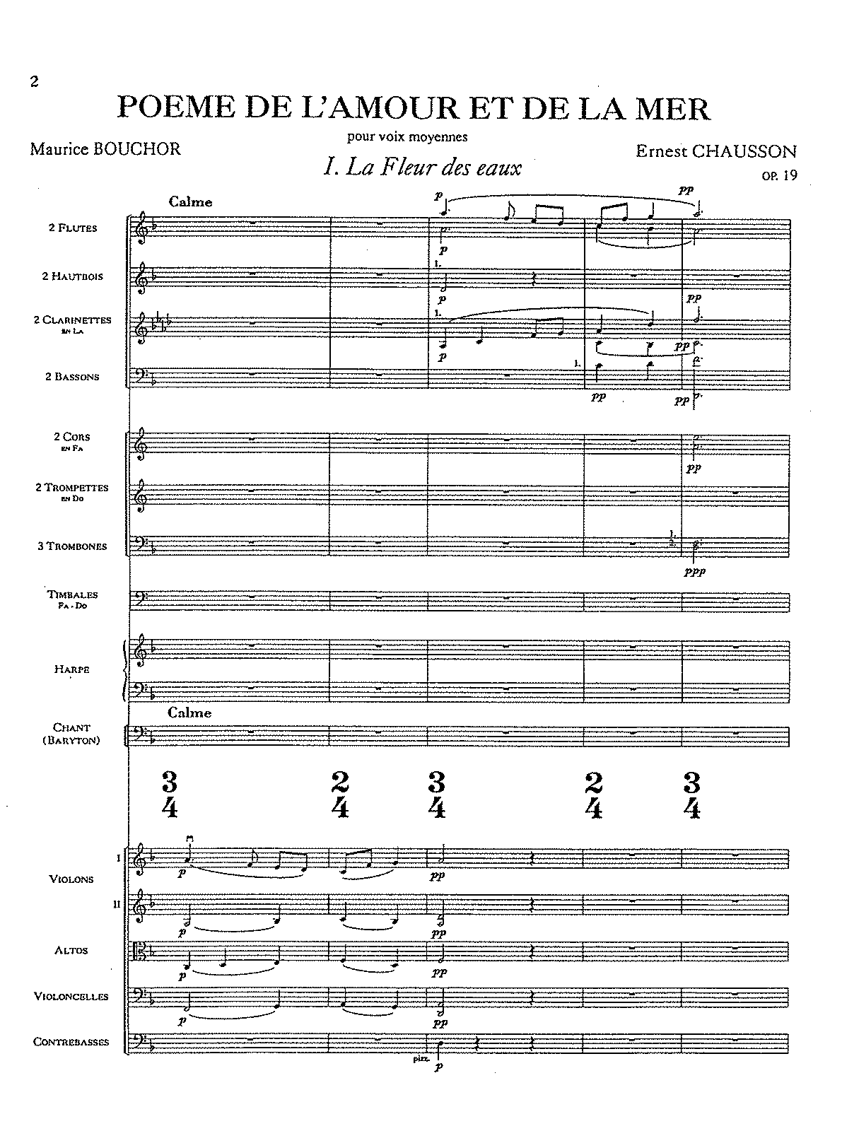 Chausson, op. 19