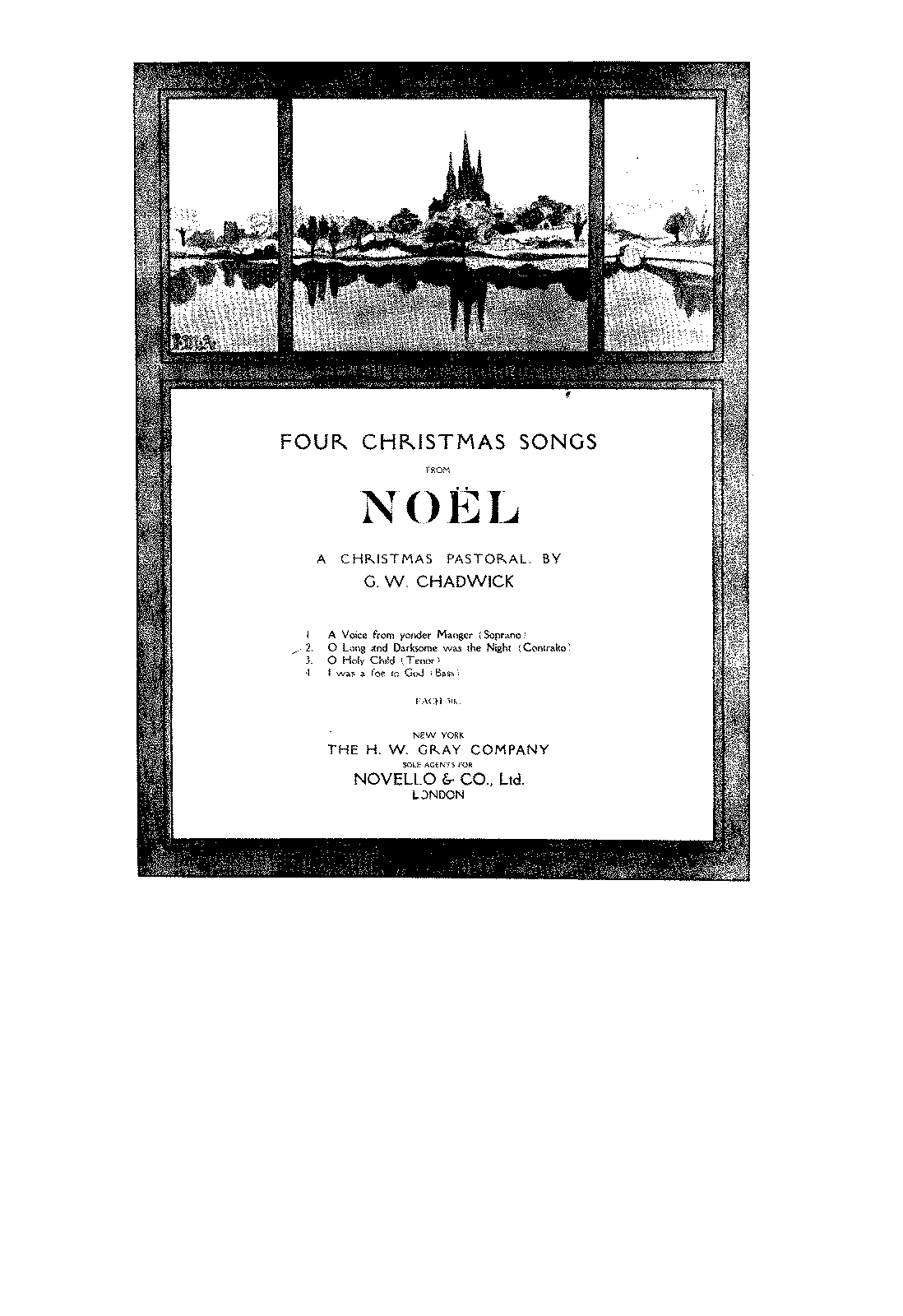4 Christmas Songs from Noël (Chadwick, George Whitefield
