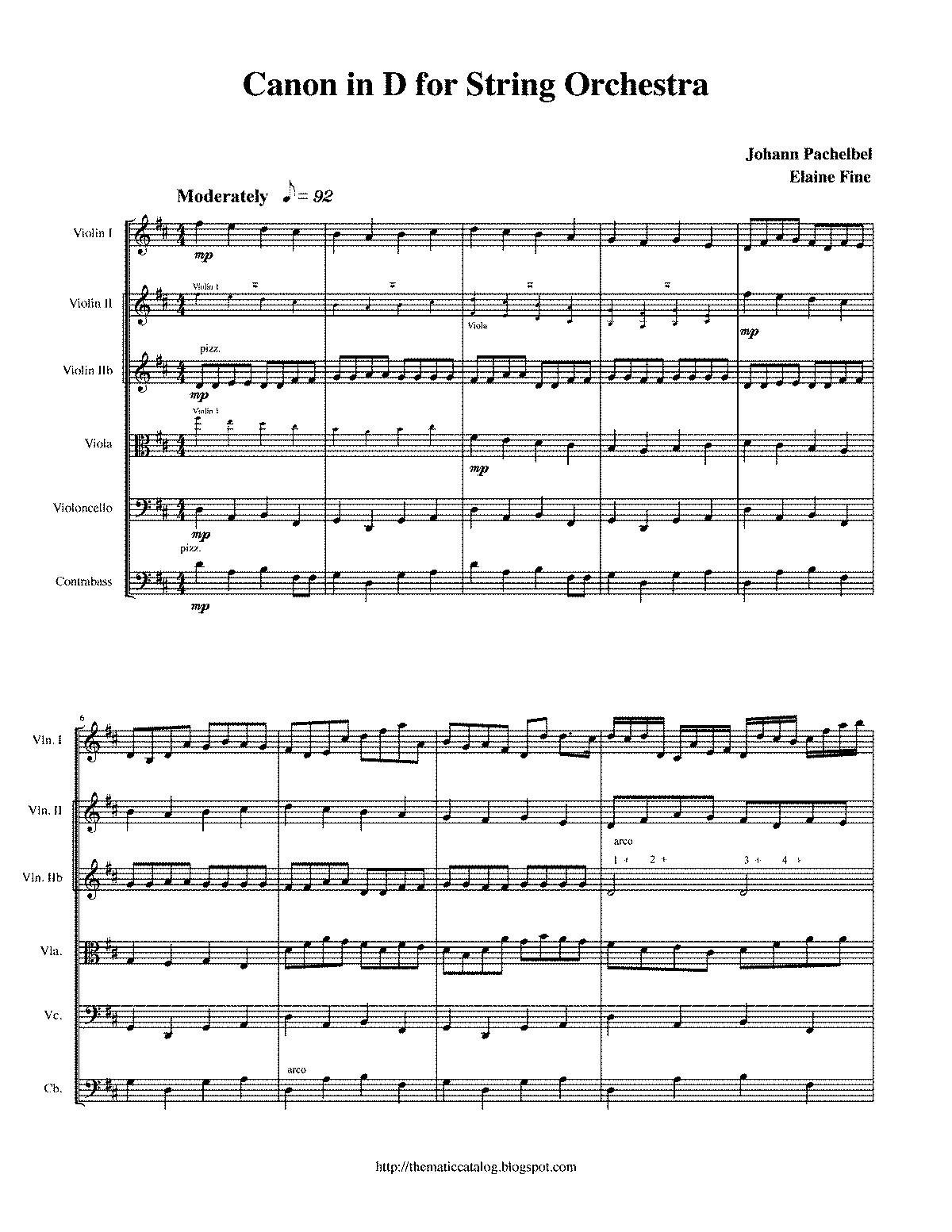 Canon In D Flute Quartet Sheet Music Free