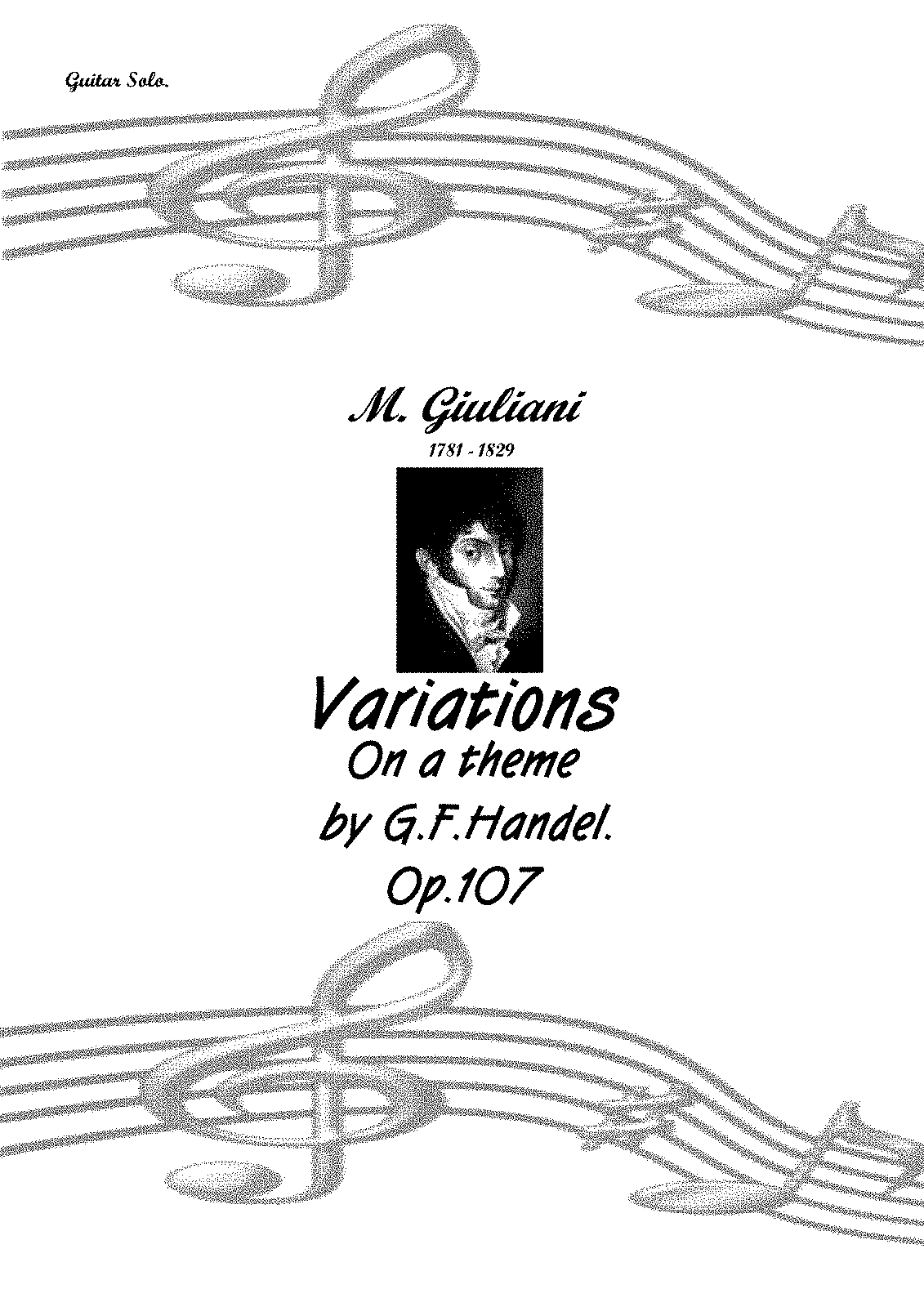 Variations on a Theme by Handel, Op.107 (Giuliani, Mauro