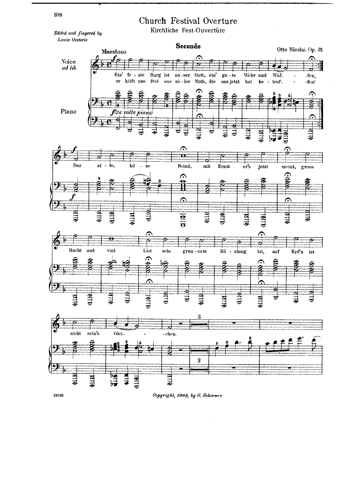 Nicolai, op. 31