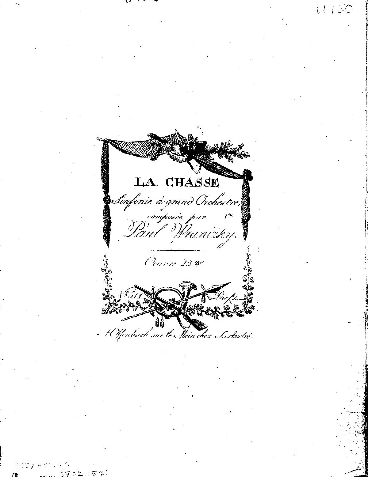 Symphony in D major, 'La Chasse', Op.25 (Wranitzky, Paul