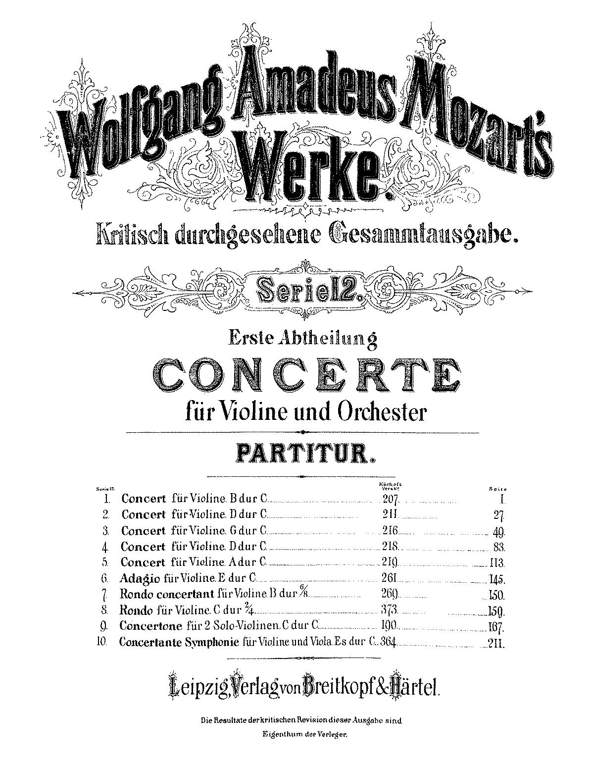 Adagio in E major, K.261 (Mozart, Wolfgang Amadeus