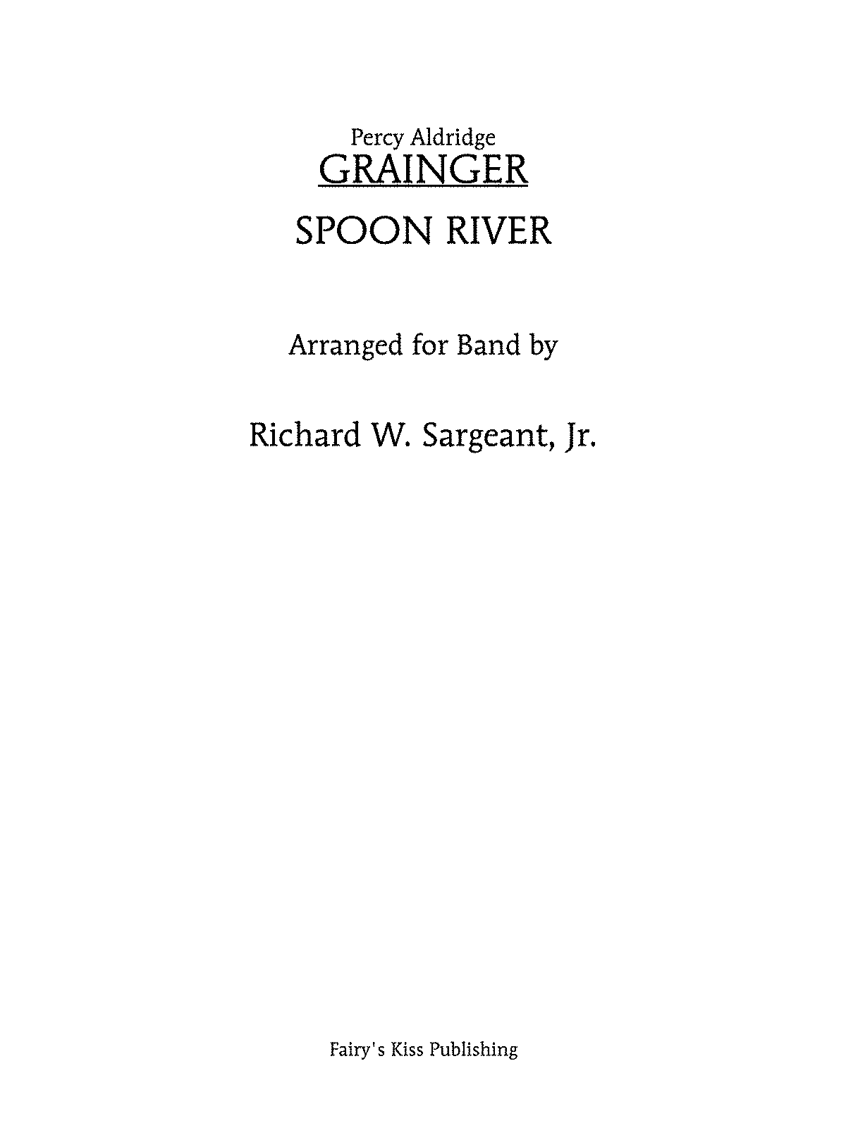 Spoon River Grainger Percy