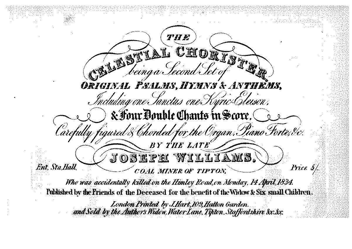 The Celestial Chorister (Williams of Tipton, Joseph