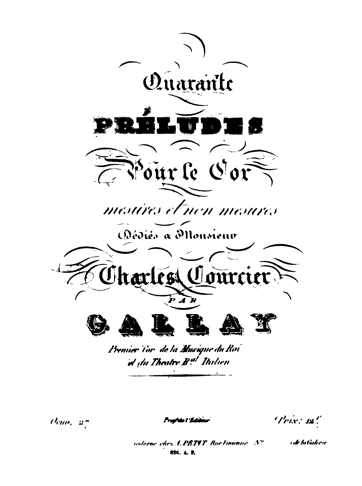 40 Preludes for Horn, Op.27 (Gallay, Jacques François