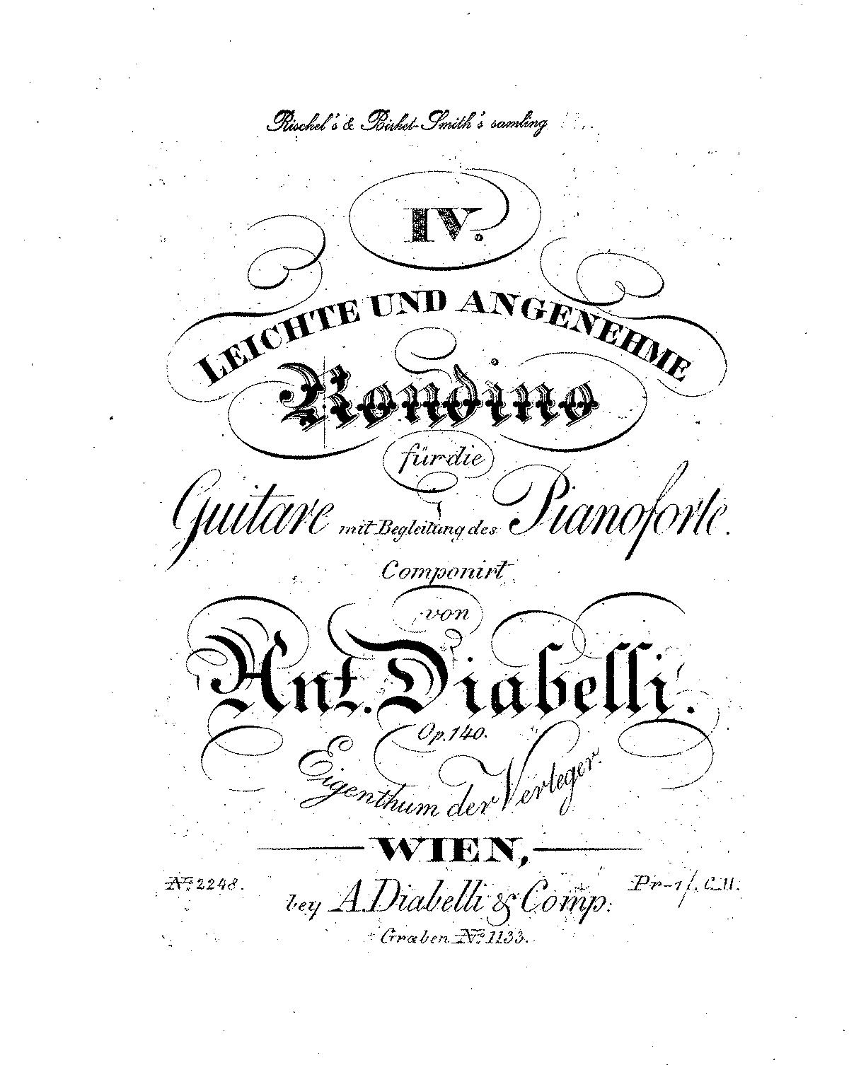4 Leichte und angenehme Rondino, Op.140 (Diabelli, Anton