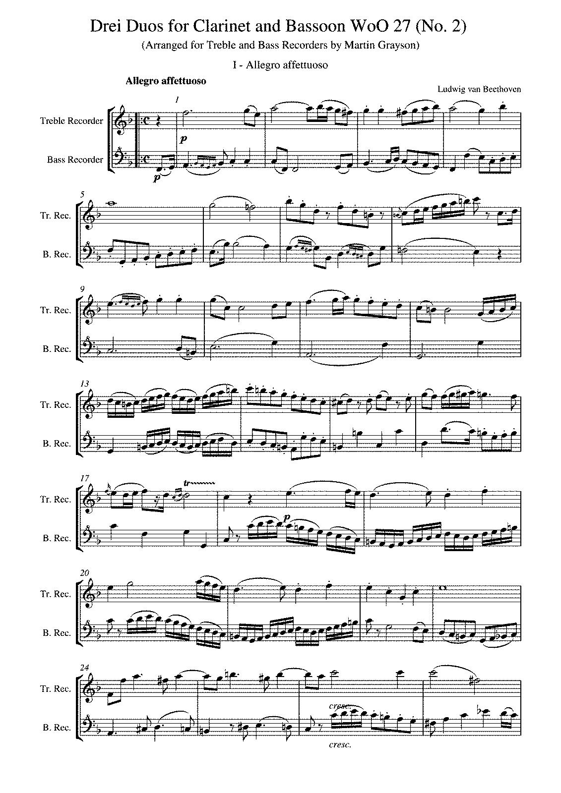Free Sheet Music Clarinet Bassoon Duets